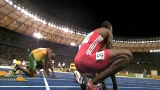 100m Men`s Finale Berlin Bolt vs Gay 16.08.09 HQ