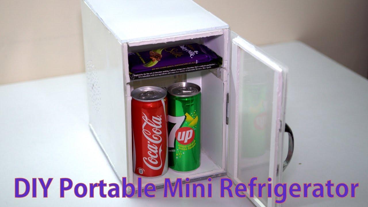 DIY Portable Mini Refrigirator   YouTube