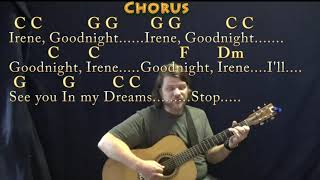 Goodnight, Irene (Traditional) Fingerstyle Guitar Cover Lesson in C with Chords/Lyrics