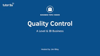 Quality Management - Quality Control