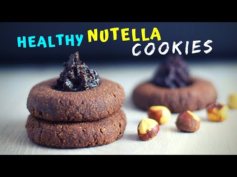 Healthy Nutella Cookies (MADE WITH 3 INGREDIENTS ONLY!)