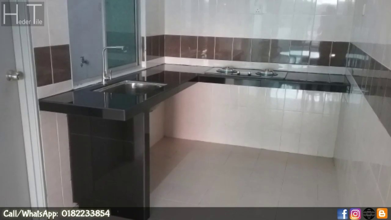 hasil kerja membuat table top concrete meja  dapur  konkrit