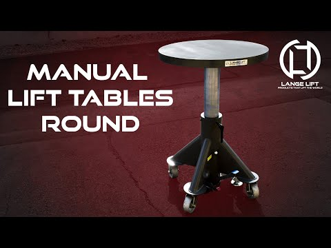 Round Deck Manual Powered Hydraulic Lift Tables | Lange Lift