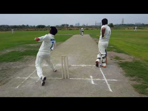 Ashok Nagar's Hitting over the crease in the crucial time in Pavilion Corporate League.