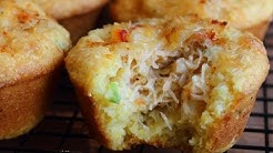 Crab Stuffed Corn Muffins Recipe - Spicy Corn & Crab Cupcakes