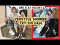 HUGE Yesstyle Korean Summer Outfit Try-On Haul (See you at KCON LA) | Q2HAN
