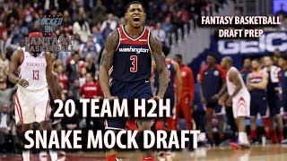 Fantasy Basketball Mock Draft | Watch Along 20 Team H2H Snake Draft
