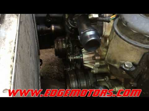 E46 3 series bmw water pump and rmostat replacement DIY by Edge ...