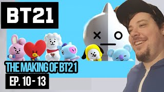 mikey reacts to the making of bt21 ep 10 13