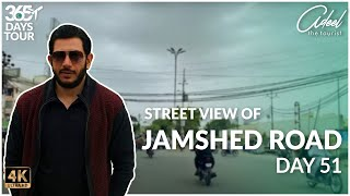 Street view of Jamshed Road Karachi | Day 51 of 365 Days | 4K Ultra HD.