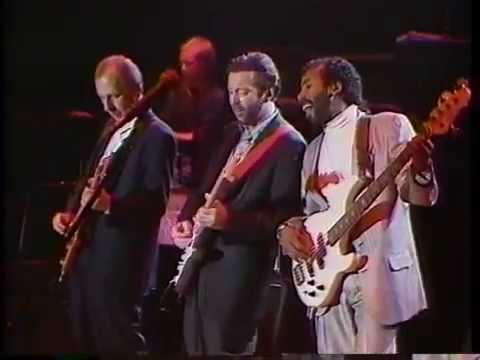 Resultado de imagen de Eric Clapton w/Elton John & Mark Knopfler - Tokyo Dome 1988-11-02