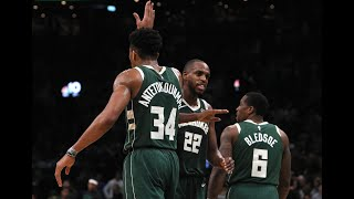 Giannis, Khris Middleton and Eric Bledsoe Take Over Game vs. Blazers
