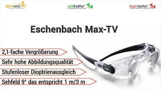 Produktvideo zu TV Brille Eschenbach Max-TV