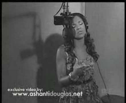 "Ashanti singing ""mother"" (in studio)"