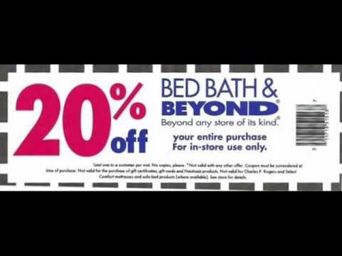 Bed Bath And Beyond Coupon Youtube