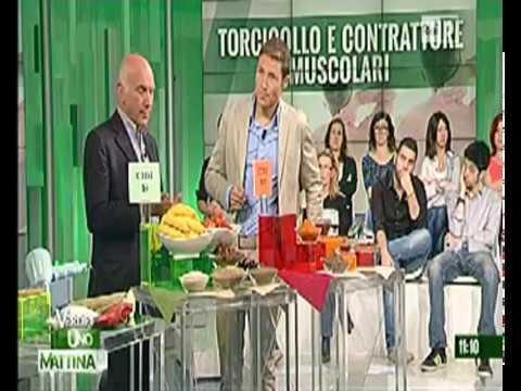 Rimedi Torcicollo con il cibo - Stefano Pompili a Uno Mattina
