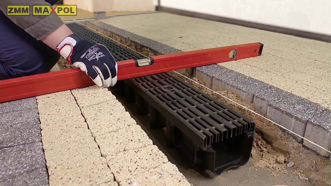 Montaż Odwodnienia Liniowego Zestaw Garażowy Art 01718 2 Youtube