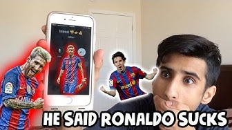 CALLING LIONEL MESSI!!! *OMG HE ACTUALLY ANSWERED* MESSI SAYS CRISTIANO RONALDO SUCKS AND CURSES!!