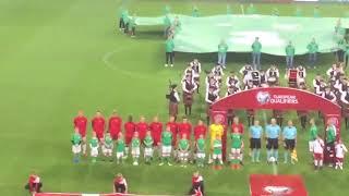 Ireland vs Denmark on the fan side, singing laughter, who louder?