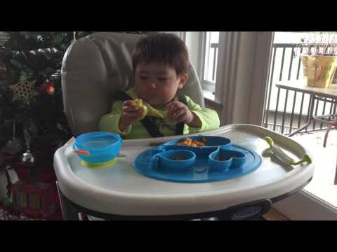 10 Months' Old Baby Feeding Himself Corn-on-the-corp