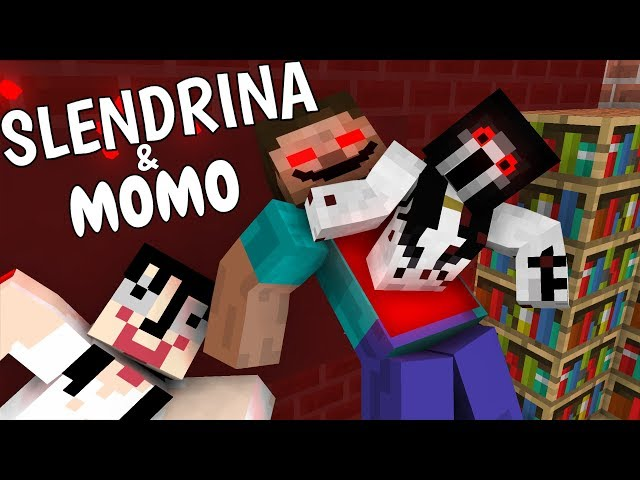 Monster School: SLENDRINA & MOMO - Minecraft Animation
