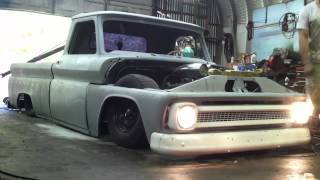 1966 Bagged c10 sbc open headers
