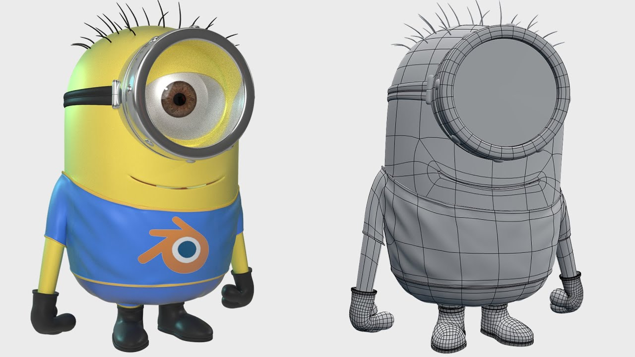 Minion Camera Case : How to create a minion in blender part youtube
