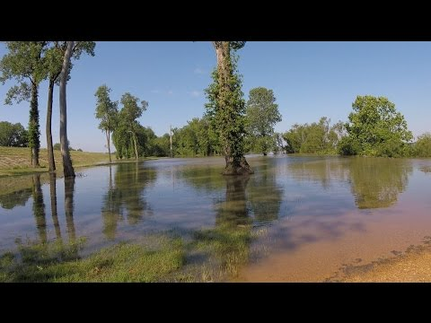 Mississippi River 2017 flood water