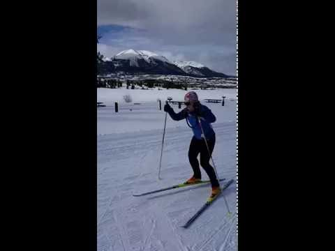 Level 2 Skate Skiing student  -Anne