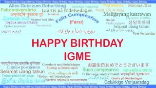 Igme   Languages Idiomas - Happy Birthday