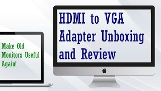 HDMI to VGA Adapter Unboxing and Review(It's amazing, that's all I have to say! One-third of the price of one at Best Buy, and it comes with an audio jacks! If you need anything like this, Chech the link!, 2016-04-24T19:00:57.000Z)