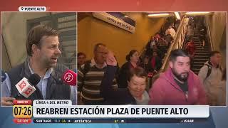 """Alcalde de Puente Alto por destrucción del Metro: """"Hay cosas que no se pueden tocar"""""""