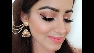 Easy Glam Peach EID Makeup Look (HINDI)Deepti Ghai Sharma