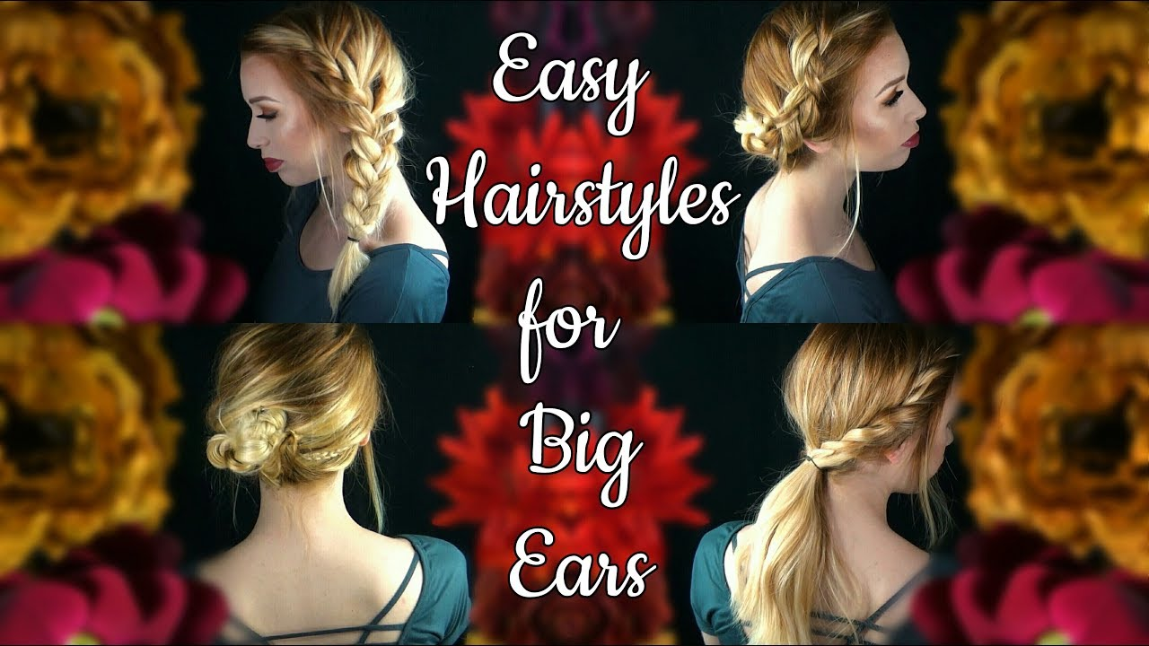 easy back to school hairstyles that hide big ears - youtube