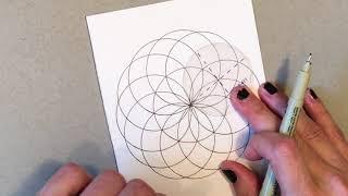 How To Draw a Sacred Geometry Torus Mandala - Follow Along Tutorial