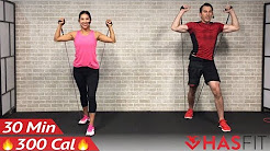 30 Minute Full Body Resistance Band Workout - Exercise Band Workouts for Women & Men