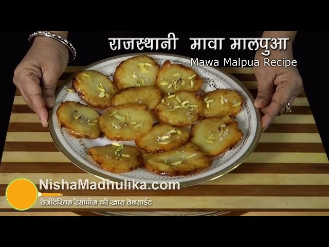 Rajasthani Mawa Malpua Recipe Travel Video