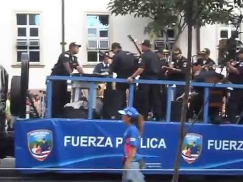 Costa Rica police music ensemble travelling band