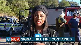 Firefighters have contained a fire on Signal Hill in Cape Town