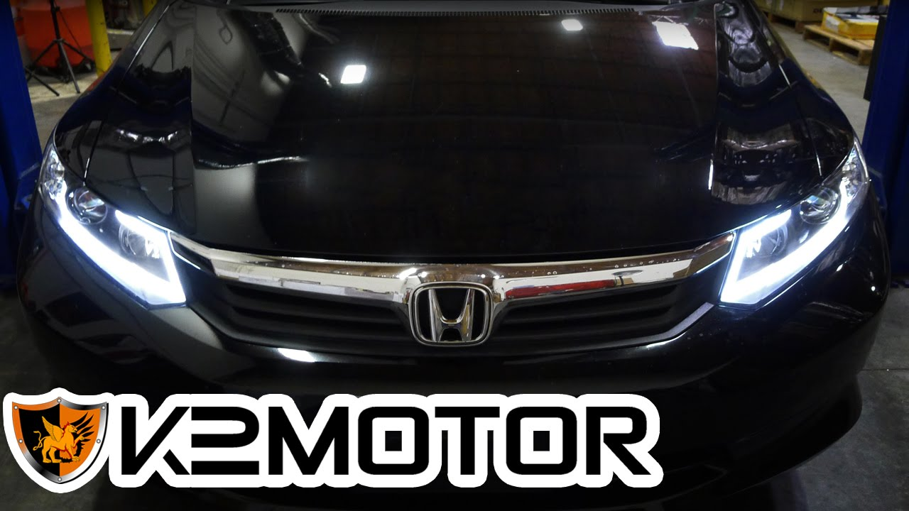 K2 Motor Installation Video 2012 Honda Civic Fiber Optic
