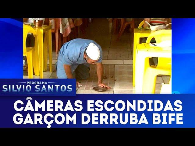 Garçom derruba bife | Câmeras Escondidas (13/01/19)