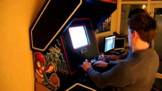 Playing Self Build Arcade Cabinet