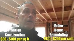 What Is The Cost Per Square Foot To Build A Home Addition