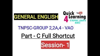 Tnpsc General English - Vao, Group 2a ,2,4 Part C