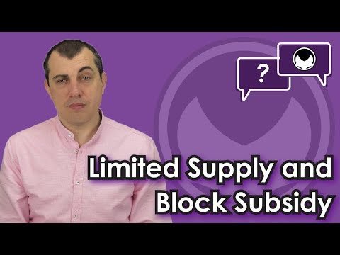 🎬 Aantonop: Bitcoin Q&A: Limited supply and block subsidy