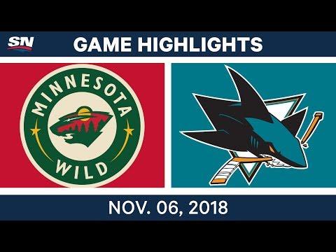 NHL Highlights | Wild vs. Sharks – Nov. 6, 2018