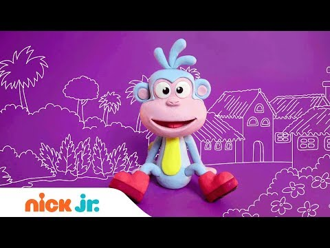 Learn How To Make Boots From Clay! 🐵  | Dora The Explorer | Nick Jr. Crafts