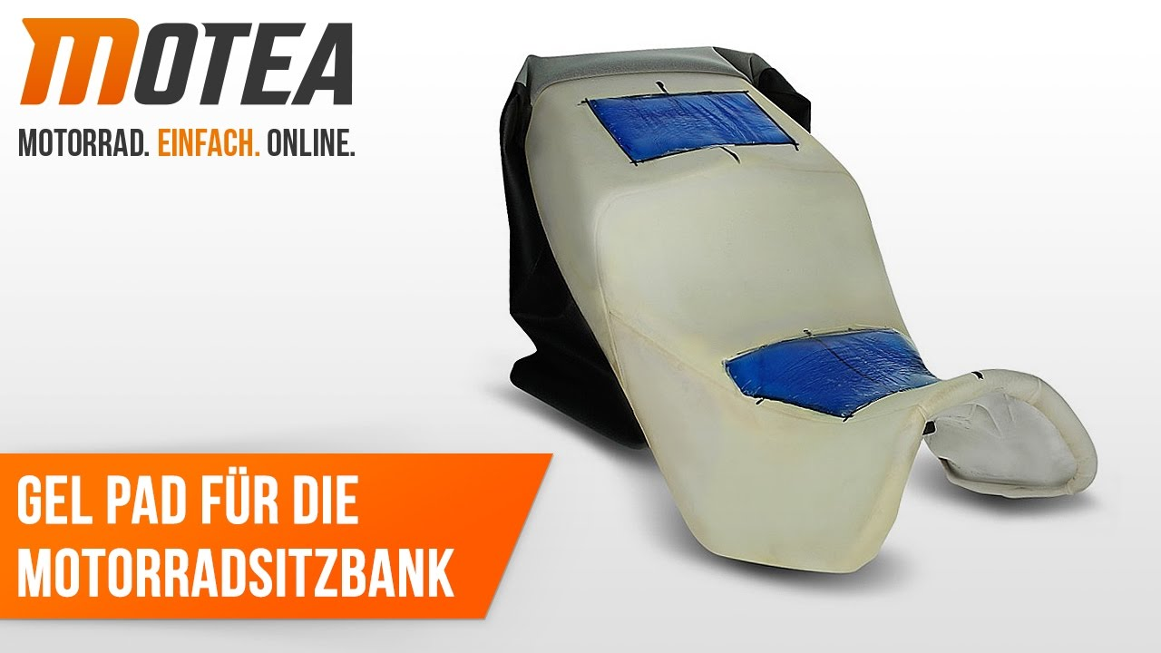 Montageanleitung: Gelkissen / Gel Pad für Motorradsitzbank - YouTube