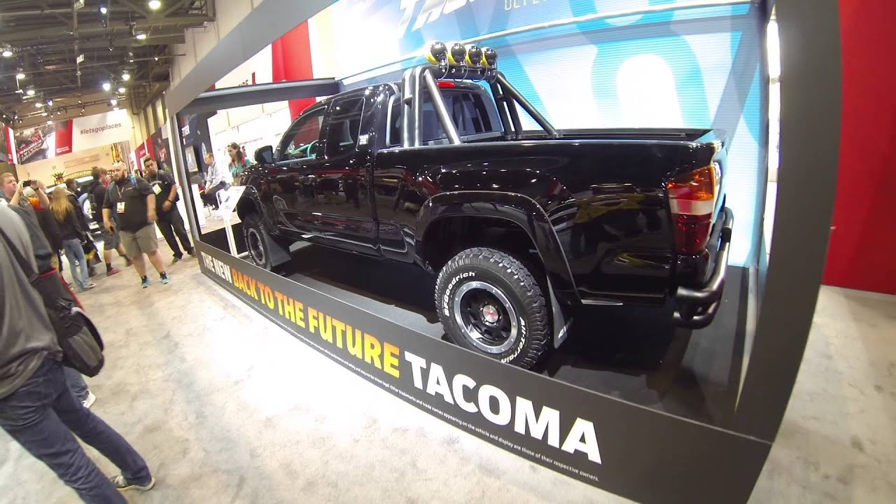 back to the future toyota tacoma truck at sema 2015 youtube. Black Bedroom Furniture Sets. Home Design Ideas