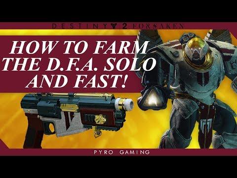 Destiny 2: Solo DFA Farm Guide! 10 Minute Runs!